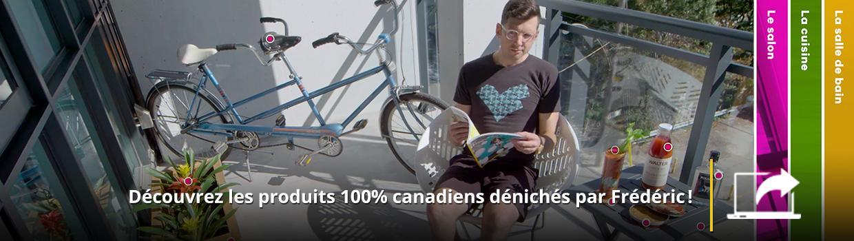 Visitez le site de Ma vie Made in Canada et découvrez les produits 100 % canadiens dénichés par Frédéric!